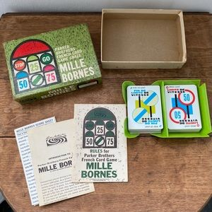 Vtg 1962 Mille Bornes French Card Game Complete
